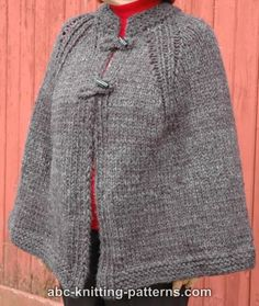 Highlands Cape - Make this classic cape with Wool-Ease Thick & Quick! Get the free knit pattern by ABC Knitting Patterns now! Knitted Cape Pattern, Poncho Knitting Patterns, Shawl Patterns, Knitted Poncho, Crochet Shawl, Free Knitting, Knit Crochet, Cloak Pattern, Outlander Knitting Patterns