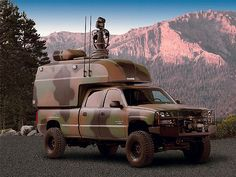 military Chevy with extendable surveillance tower