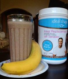 IdealShape Chocolate Banana Weight Loss Smoothie Recipe