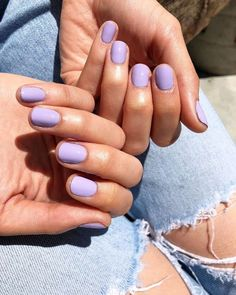 "The perfect Summer Pastels in the NCLA Nail Lacquer Collection! This color is ""clubhouse cocktails"" Made in LA, Cruelty free and Vegan! Bright Nails, Pastel Nails, Acrylic Nails, Light Purple Nails, Lilac Nails, Pastel Nail Polish, Gel Polish, Cute Nails, Pretty Nails"