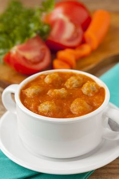 Starter Recipe: Basil Tomato Soup and Turkey Meatballs - 12 Tomatoes
