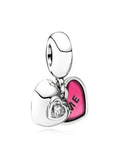 Pandora Dangle Charm - Sterling Silver, Enamel & Cubic Zirconia You & Me, Moments Collection