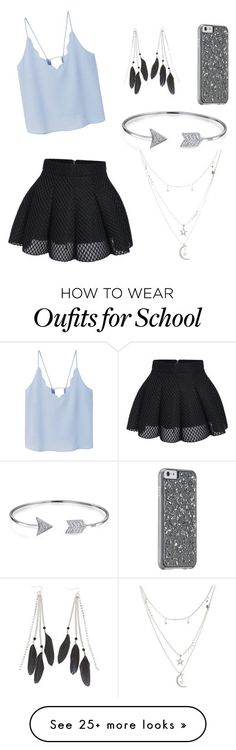 """""""Last day of school."""" by mariahmata33 on Polyvore featuring MANGO, Charlotte Russe and Bling Jewelry"""