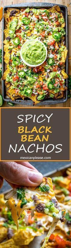 Veggie Recipes, Mexican Food Recipes, Appetizer Recipes, Vegetarian Recipes, Cooking Recipes, Healthy Recipes, Vegetarian Cooking, Vegetarian Nachos, Meal Recipes