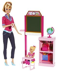 Explore new careers in depth with the Barbie Careers complete play sets! From medicine to teaching to the culinary arts these focused and fashionable females have the skills to open up a world of pos... Barbie Doll Set, Doll Clothes Barbie, Barbie Doll House, Barbie Dream House, Barbie I, Barbie World, Barbie Website, Accessoires Barbie, Barbie Playsets