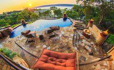 Lake Travis Modern Italian Outdoor Living Pool by Zbranek & Holt Custom Homes, Lake Travis Luxury Home Builders