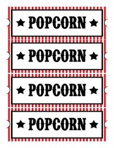 Sweet Daisy Designs: Free Printables: Home Movie Theatre Night