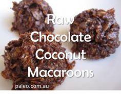 Recipes: Raw Chocolate Coconut Macaroons