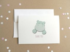 Little Hippo Thank You Note Cards (Set of 20)