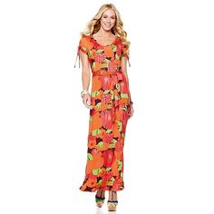 "Nikki Poulos ""Anne"" V-Neck Maxi Dress, xs to 3x, $79.90 with flex pay available, 3 color choices, HSN"
