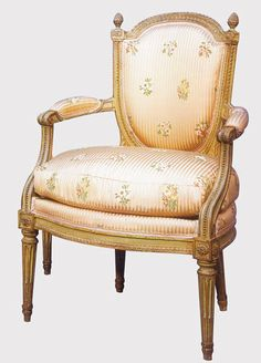 Neoclassical fauteuils-Louis-XVI