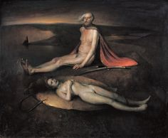 """thusreluctant: """"Old Man with a Dead Maiden by Odd Nerdrum """""""
