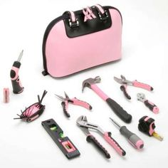 Pink Toolkit. Proceeds from the sales of this pink toolkit went to organizations to help fight breast cancer.