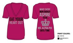 Mr. Alpha Phi!!! We need APhi guy shirts