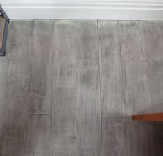 gray plywood floor- I think I could use this stain technique on the cabinets Stained Plywood Floors, Plywood Plank Flooring, Plywood Walls, Stained Concrete, Diy Flooring, Painted Floors, Flooring Ideas, Laminate Flooring, Painting Plywood