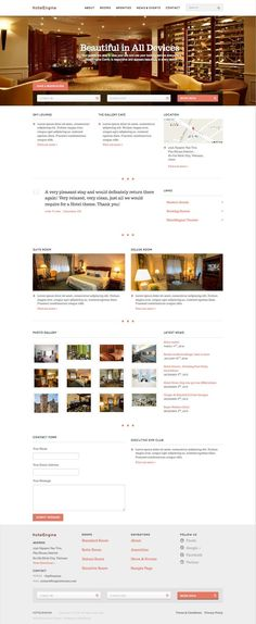 HotelEngine Comfy WordPress Hotel Booking System Theme