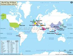 Buy map of major air route of world buy maps buy map of top 20 most visited cities in the world gumiabroncs Images