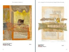 2 collage artists - Phillipa Christie from New Zealand  & Jette Clover from Belgium