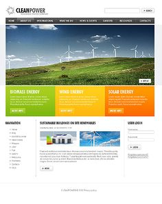 Clean Power Drupal Templates by Hugo