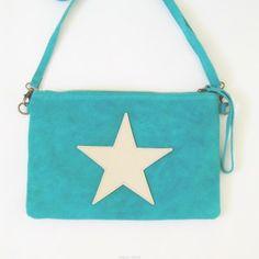 bolso estrella turquesa