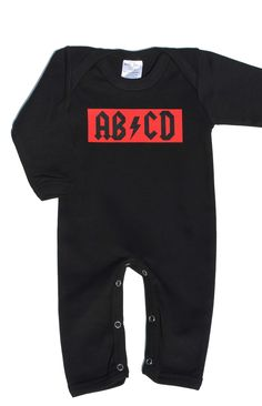 Rock Baby Clothes | Cool AB/CD Rock Baby Sleepsuit | AB/CD Romper UK