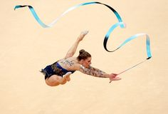 News Photo: Janine Murray of Australia competes during the Rythmic…