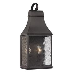 ELK Lighting 47071/2 Forged Jefferson 2 Light 19 inch Charcoal Outdoor Wall Sconce wiring will come out from bottom to HCWO 13