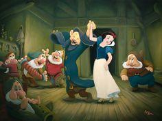 Walt Disney, Disney Love, Disney Magic, Disney Pixar, Snow White 1937, Disney Fine Art, Cinderella, Snow White Disney, Seven Dwarfs