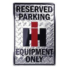 Case IH Reserved Parking Diamond Tin Sign
