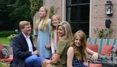The Royal Children: Princesses Amalia, Alexia and Ariane with their parents Queen Maxima and King Willem Alexander at the annual summer photocall (July 8, 2016)  All photos