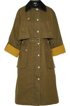 Miu Miu  Manteau en coton ciré et laine