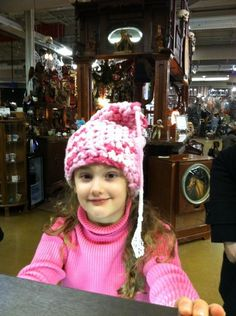 Pinklady crocheted hat @ The Rust Belt Market, Ferndale, Mi