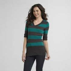 Canyon River Blues Women's V-Neck Sweater - Striped - Clothing - Women's - Sweaters