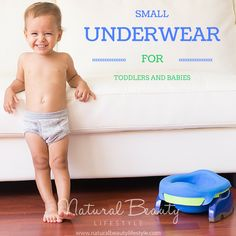 Small Underwear for Toddlers and Babies | Potty Training | Find the smallest underwear for #pottytraining toddlers and tiny undies for babies who do #eliminationcommunication. http://naturalbeautylifestyle.com/natural-parenting/natural-infant-hygiene/small-underwear-for-toddlers/