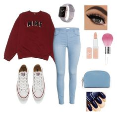 """""""!"""" by arbaugh-madison on Polyvore featuring NIKE, Converse, Rimmel, Guerlain, MICHAEL Michael Kors, women's clothing, women's fashion, women, female and woman"""