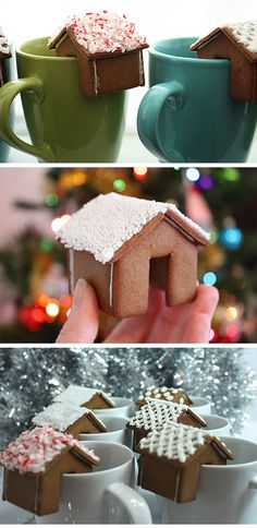 Tiny Gingerbread House for Side of Mug | DIY Holiday Gift Ideas for Best Friend | DIY Christmas Gift Ideas for Women