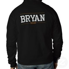 Bryan Texas USA Embroidered Zip Hoodies