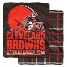 e58b16b3e70 Wrap yourself up in the silky softness of the Cleveland Browns Home Field  Throw. Browns