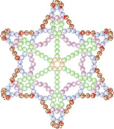 Free Bead Patterns and Ideas : Snowflake #34 Ornament pattern