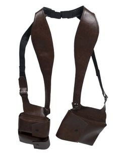 Brown Double-sided Shoulder Holster Style Wallet W/secure Removable Billfold, Ideal for Mobile Cell Leather Holster, Leather Pouch, Leather Men, Phone Holster, Leather Projects, Fashion Flats, Leather Working, Leather Craft, Backpack Bags