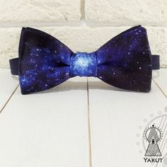 Bow Tie Space 1 Bowtie space pattern Blue bow tie от BowTieYAKUT