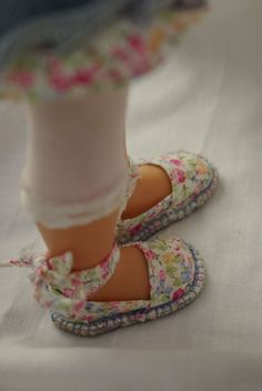 Espadrilles Free pattern and step by step Photo tutorial - Bildanleitung und…