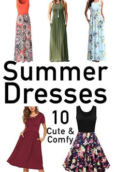 Casual summer dresses are perfect for women to stay stylish and cool during the summer heat. Long maxi dresses and flowing knee length in comfy fabrics. Best Summer Dresses, Casual Summer Dresses, Dress Summer, Cute Fashion, Retro Fashion, Cool Outfits, Casual Outfits, Summer Dress Patterns, Fashion Updates
