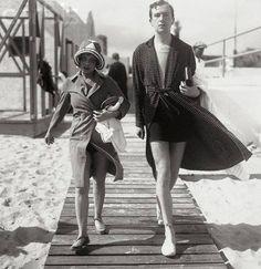 Anita Loos & Cecil Beaton, Palm Beach 1930