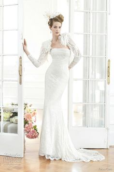 Lace Column Gown With Matching Bolero, YolanCris 2011 Diva Collection>>>>
