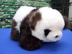 Alpaca Plush Panda  Teddy bear 11 inches tall new very soft alpaca fiber cuddly llama Panda bear by AmericanandesGifts on Etsy