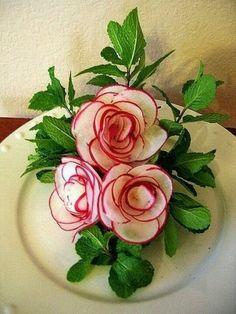 Radish roses