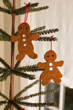 Ravelry: Felted Gingerbread Ornaments pattern by Churchmouse Yarns and Teas