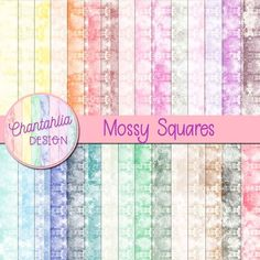 Instantly download these free digital papers featuring a mossy squares design . Use them in your digital scrapbooking, digital planner, card making and more. The set includes one paper in 36 colours. #freedigitalpaper #digiscrap digitalscrapbooking #digitalplanning #digitalpaper