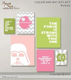 Hey, I found this really awesome Etsy listing at https://www.etsy.com/listing/208991961/baby-girl-nursery-art-star-wars-baby